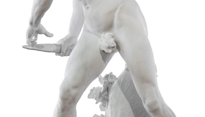 <em>Contra l&#39;invasor,</em> Miquel Blay i F&agrave;bregas, 1891. Modelat de guix, 165 x 74,5 x 90 cm. Museu d&#39;Art de Girona - Fons d&#39;Art Diputaci&oacute; de Girona.